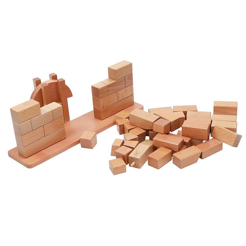 Brinquedo do bebê montessori ponte romana de madeira para educação infantil pré escolar crianças brinquedos juguetes - 5