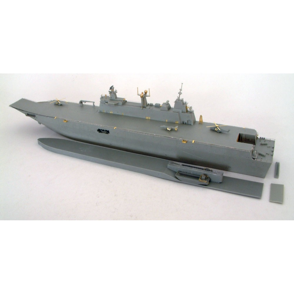 OHS Orange Hobby N07018280 1/700 Spanish Navy's LHD Juan Carlos I Plastic Assembly Scale Military Ship Model Building Kits ohs tamiya 60102 1 35 tyrannosaurus diorama set assembly scale dinosaur model building kits