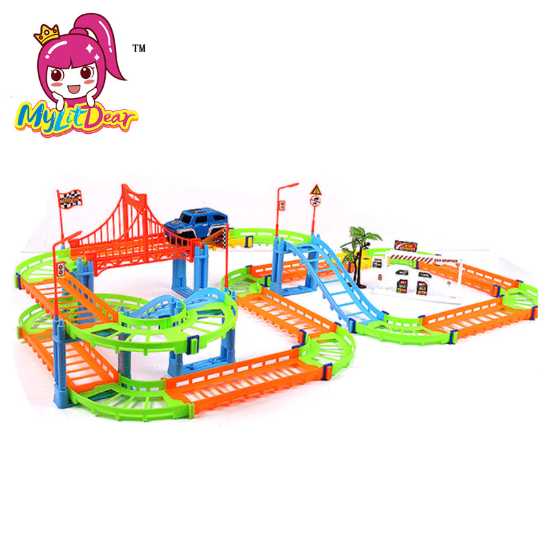 MylitDear New 2 Lodra Colorful Colorful Rail Style Layer Multilayer - Makina lodër për fëmije - Foto 5