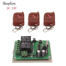 Sleeplion 24V 10A Relay 2 Channel Wireless Remote Control Switch ON/OFF 3 Transmitter+ Receiver Teleswitch Module 315MHz 433MHz