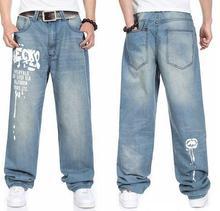 Новые Мужские джинсы скейтборд мужчин джинсы случайные свободные джинсы размер 30-46