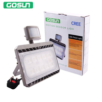 Gosun LED Motion Sensor Flood Light 50W 30W Outdoor Floodlights Waterproof IP65 PIR Security Wall Washer