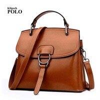 New Arrival 2017 Brand Genuine Leather Women Handbag Soft Leather Fashion Shoulder Bag Large Capacity Casual