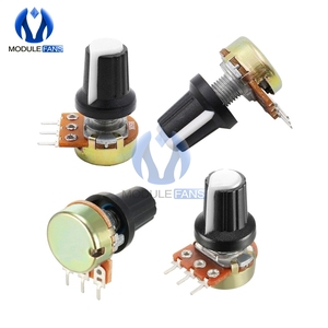 10PCS Electronic Diy WH148 With Cap Linear Taper Rotary Potentiometer 1K 2K 3K 5K 10K 20K 30K 50K 100K 200K 300K 500K 1M Ohm