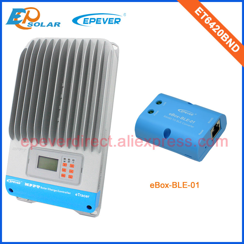 Battery charging mppt EPsolar 60A 60amp solar panel controller with bluetooth function connect mobile phone ET6420BND