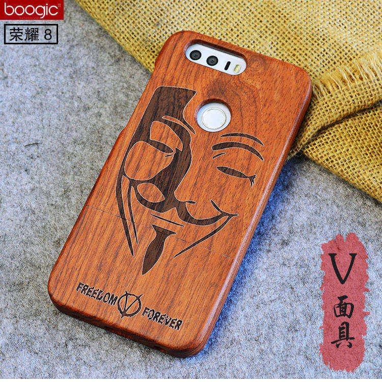 Luxury For Huawei Honor 9 Case Wood Natural Real Bamboo Carving Wooden Protector Cover for Huawei Honor 9 8 Honor9 Phone Bag
