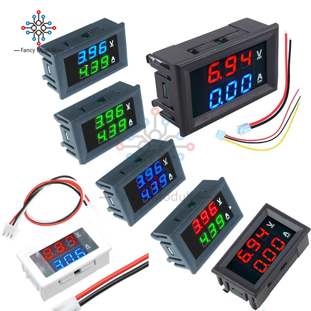 Dual LED Display Mini Digital Voltmeter Ammeter 0.56'' DC 100V 10A Panel Amp Volt Voltage Current Meter Tester Detector 0.28''