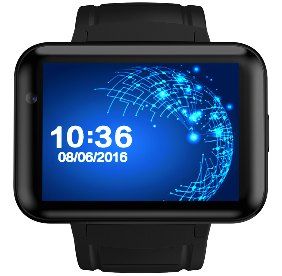 imágenes para Domino dm98 bluetooth smart watch smartwatch teléfono mtk6572 android 4.4 3g Dual Core 1.2 GHz 4 GB Cámara ROM WCDMA WiFi GPS PK LEM4