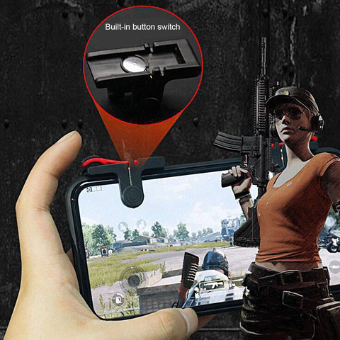 For Pubg Gamepad For Mobile Phone Game Controller Shooter Trigger Fire Button For IPhone Android Phone Game Pad Accessories Karachi
