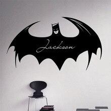 Custom Personalized Names Wall Decal Batman Comics Vinyl Sticker Decals Home Decor Removable Art