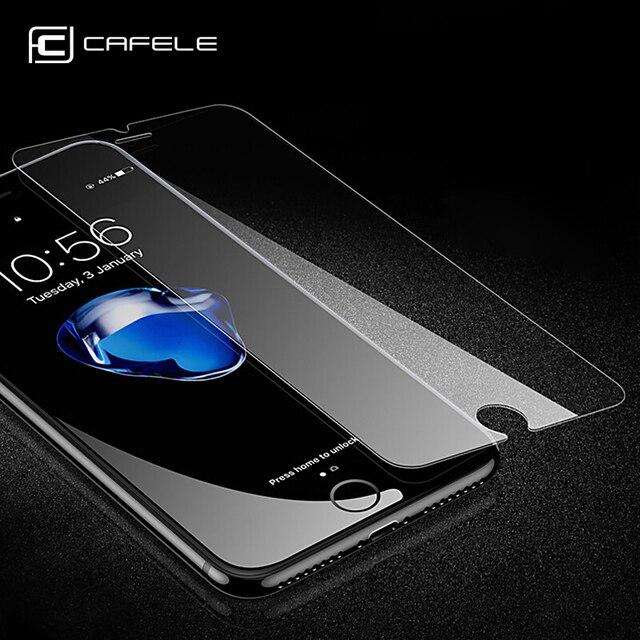 CAFELE حامي الشاشة آيفون 12 برو ماكس 11 برو ماكس XS X XR SE 8 7 6 6s زائد الزجاج المقسى 2.5D لا غطاء كامل فيلم