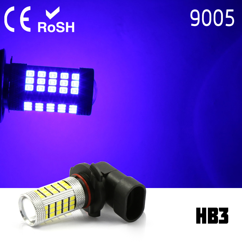 9005 HB3 High Power 2835 LED 63 smd Projector Fog Driving DRL Lights BLUE