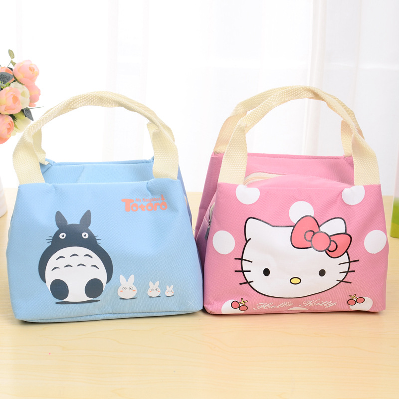 Portable Lunch Bag Thermal Food Picnic Lunch Bags for Women kids Men Cartoon Insulated Food Storage Bags D