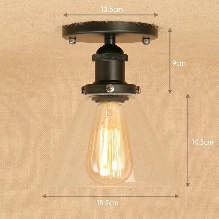 IWHD American Style LED Ceiling Light Loft IndustIria Vintage Ceiling Lighting Fixtures Bedroom Living Room Lampara Sufitowa iwhd style loft industrial vintage lighting hanging lamp led cement rotro light fixtures bedroom living room kitchen lampara