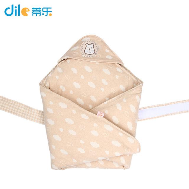 Dile inverno Infantil envoltório swaddle Do Bebê Do Algodão Recebendo Cobertores swaddling Blanket Crianças Saco de Dormir com capuz