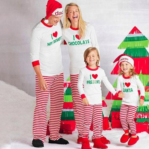 Pudcoco Kids Adult Family Matching Christmas Pajamas Sleepwear Nightwear Pyjamas цена