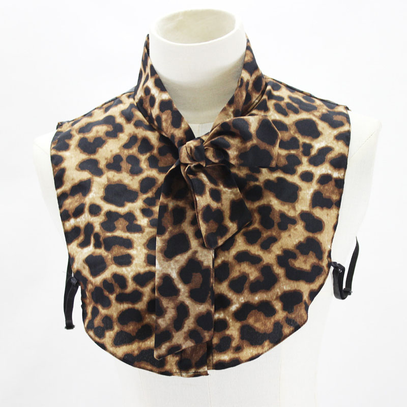 Leopard Fake Collar Shirt Women 2020 Print Ladies Detachable Collar False Removable Collar Neck Tie For Women Stand Nep Kraagie