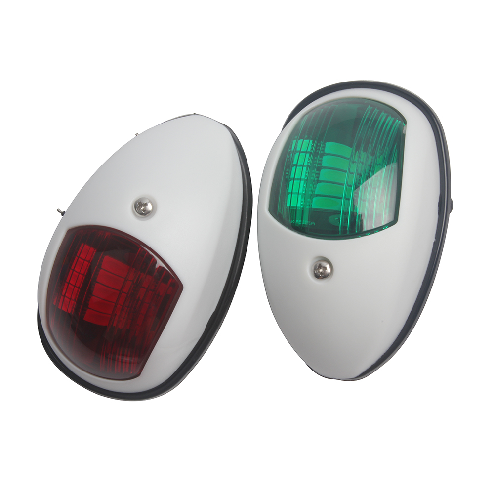 1 Pair 12V Marine Boat Yacht LED Bow Navigation Light Red Green Starboard/Port Light-in Marine Hardware from Automobiles & Motorcycles