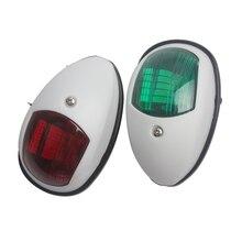 Luz LED de navegación de arco para barco, 12V, rojo, verde, estribor, luz de puerto, 1 par