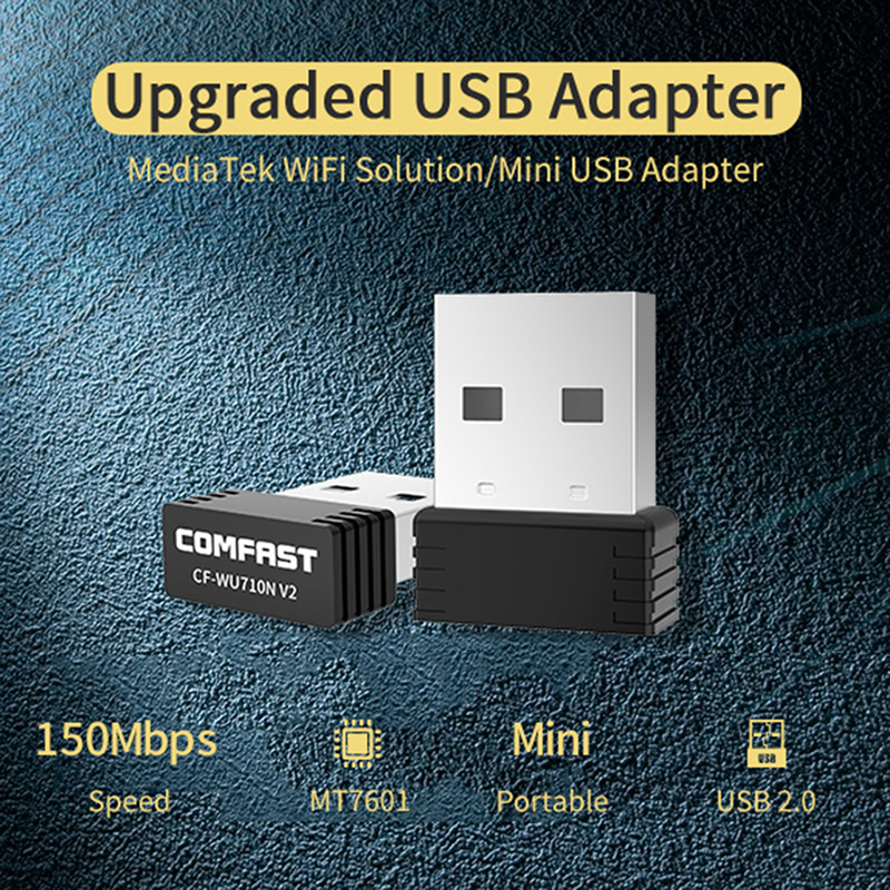 Comfast WU710N USB Wireless Wifi Nano Adapter With Driver CD 150Mbps Wi-Fi Network LAN Card 802.11b/g/n Mini Adaptor For Desktop