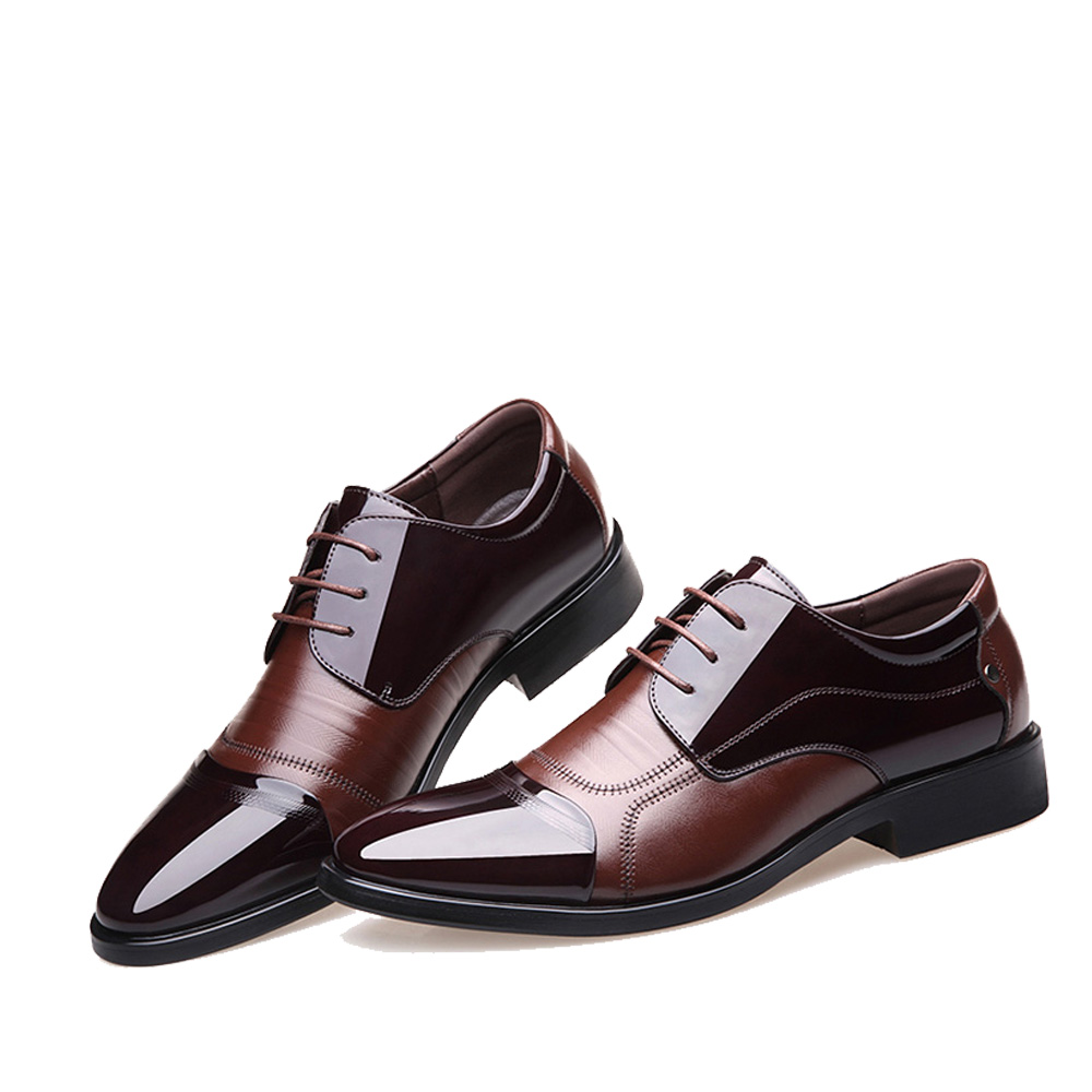 NPEZKGC Fashion lederen mannen Oxford schoenen, Lace Up Casual - Herenschoenen - Foto 2