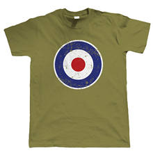 2019 Hot sale 100% cotton Retro MOD RAF Target, Mens Scooter T Shirt, Gift For Dad Him(China)