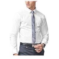 Tailored Mens Dress Shirts 2019 Custom Made White Long Sleeve Mens Dress Shirt Wedding Men Chemise Homme Manche Longue De Luxe