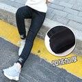 4 5 6 7 8 9 10 11 12 13 лет черный детские джинсы зима теплая одежда ковбойские штаны девушка детской астмы, бархатные брюки