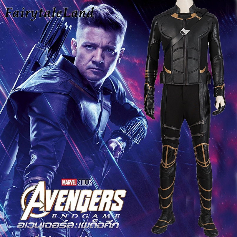Avengers 4 Clinton Barton Hawkeye costume Halloween Costumes cosplay Avengers Endgame Superhero outfit with Quiver Custom