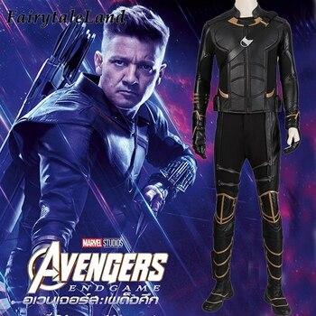 Avengers 4 Clinton Barton Hawkeye costume Costumi di Halloween cosplay Avengers Endgame Superhero outfit con Faretra Custom Made