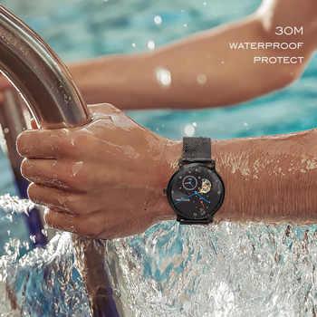 Carnival Black Automatic Watch Men Waterproof Mechanical Watches Top Brand Luxury Mens Clock Man Wristwatch montre homme xfcs