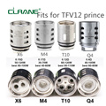 5 шт CLRANE V12 Prince-M4/Q4/X6/T10 замена катушки головку распылителя Core для курения TFV12 принц Танк Mag 225 w тк кит - фото