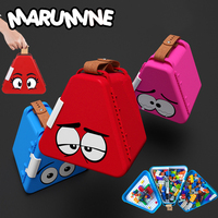 Marumine Creative Toys Storage Box Building Block Shaped Plastic Saving Space Box for Boys Girls