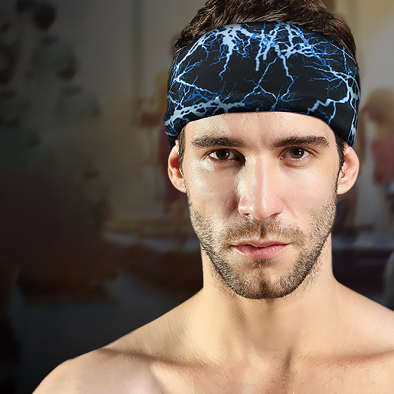 Quick-dry Breathable Summer Sport Headband Overgrip Anti-Sweat Tennis Fitness Running Head Bandage Men Sport Sweat Band