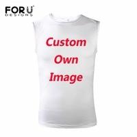 FORUDESIGNS Custom Printed Summer Fitness Men Tank Tops Breathable Slim O Neck Sleeveless Tshirt Brand Fashion