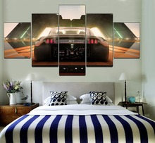 Modern Bedroom Wall Art Decor One Set 5 Piece Framework Modular Painting Canvas HD Print Born To Drift Car GT Back View Picture