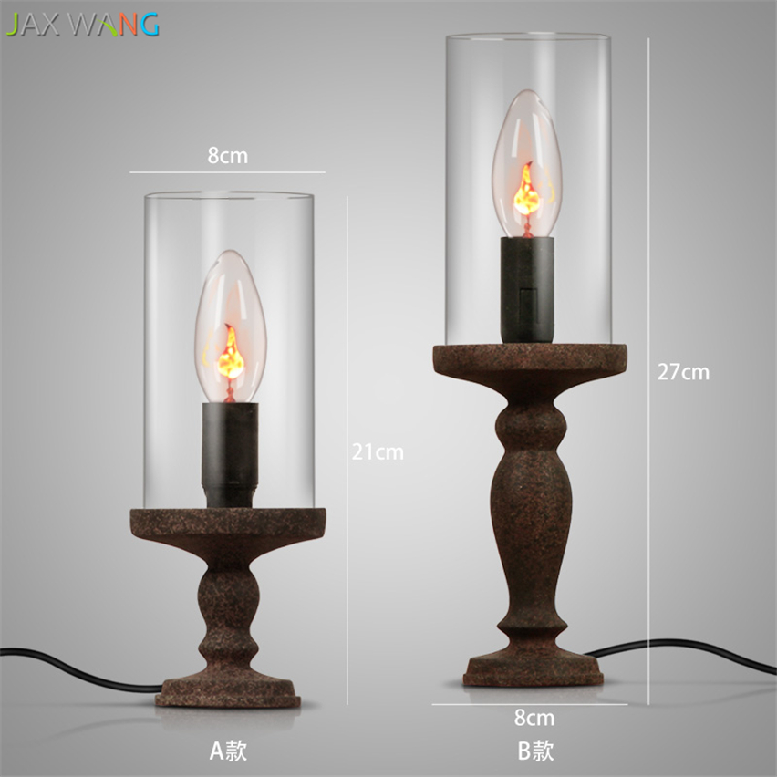 American Creative Retro Candle Table Lamp Candlestick
