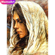 MomoArt Diamond Painting Woman Mosaic Portrait Full Square Embroidery Cross Stitch Home Decor