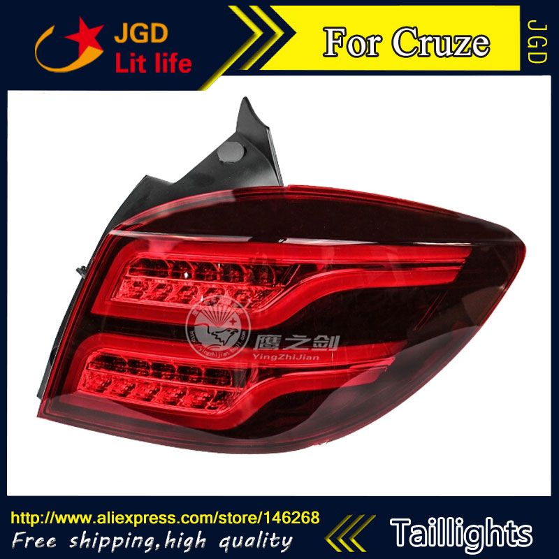 Car Styling tail lights for Chevrolet Cruze LED taillights Tail Lamp rear trunk lamp cover drl+signal+brake+reverse car styling tail lights for ford ecopsort 2014 2015 led tail lamp rear trunk lamp cover drl signal brake reverse