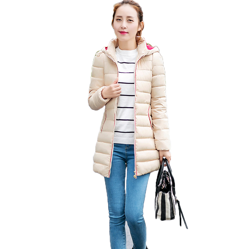 2017 new Wadded jacket female autumn winter cotton-padded down all-match women slim medium-long thickening warm ladies work coat вытяжка faber inca plus hip hal x a70 fb exp