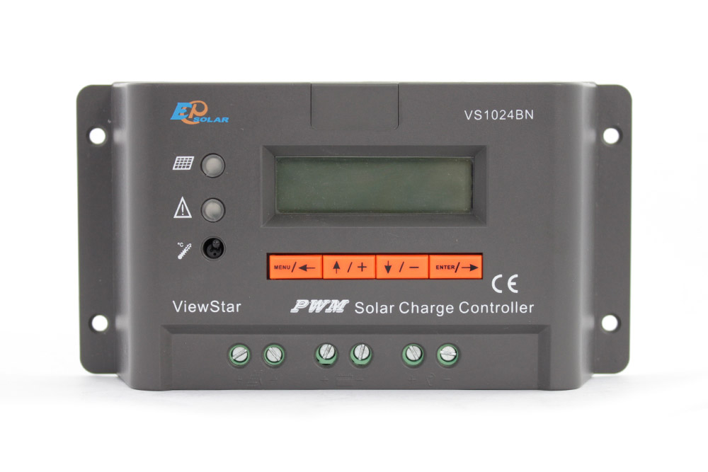 VS1024BN 10A 10amps EPEVER Solar panels charger battery controller EP PWM ViewStar series LCD display 12V/24V auto work vs6048au 48v battery charger work solar 60a controller pwm viewstar series 36v 24v auto work epever epsolar lcd display 60amps