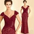 Красное вино 2015 новый мать невесты платья vestido де madrinha mutter дер braut kleid