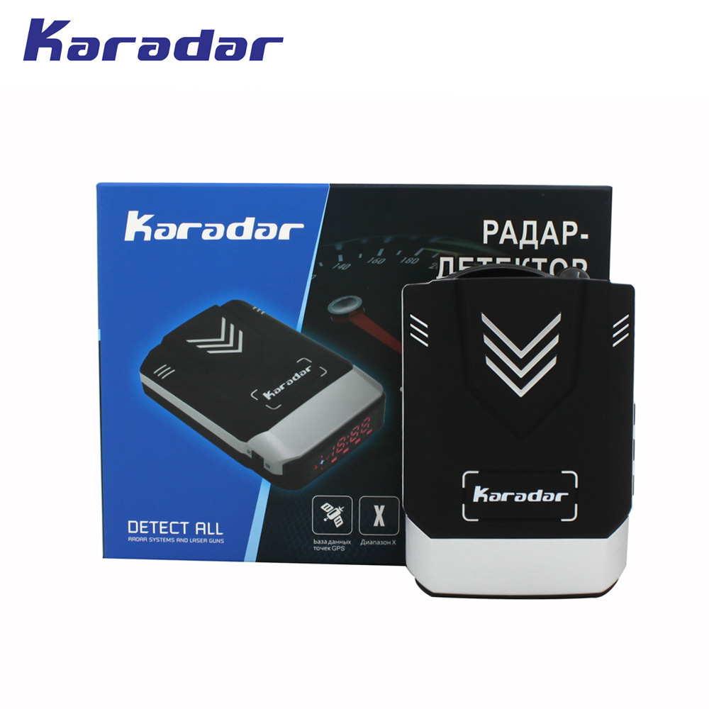 Detector de Radar combinado GPS 2018 KARADAR Anti Radar para coche Detector de Radar GPS Detector de Radar de voz Strelka Detector de coche
