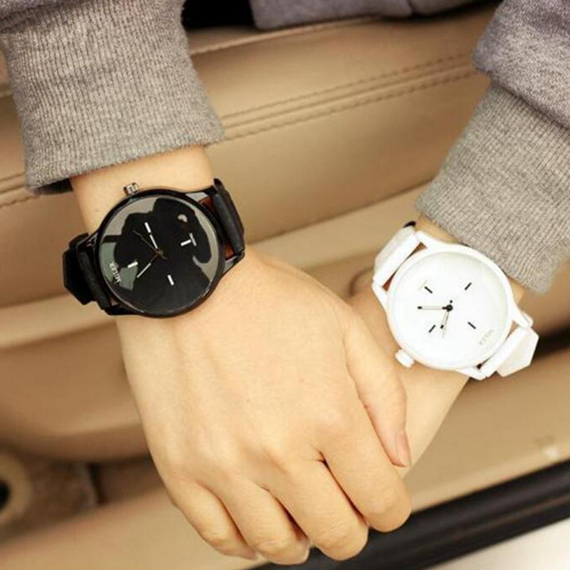 все цены на MILER Brand Classic Silicone Watch Men Women Watches Lovers Fashion Simple Men's Watch Women's Watches Clock saat relogio reloj онлайн