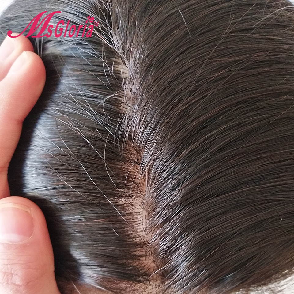 180% Density Silk Base Full Lace Wigs Straight Brazilian Remy Human Hair Wigs For Women Natural Color 8-24 Silk Top Lace Wigs