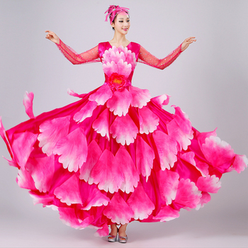 9d71bff8d Nuevo traje de baile Flamenco falda de expansión disfraz de danza moderna  ropa de actuación falda ...