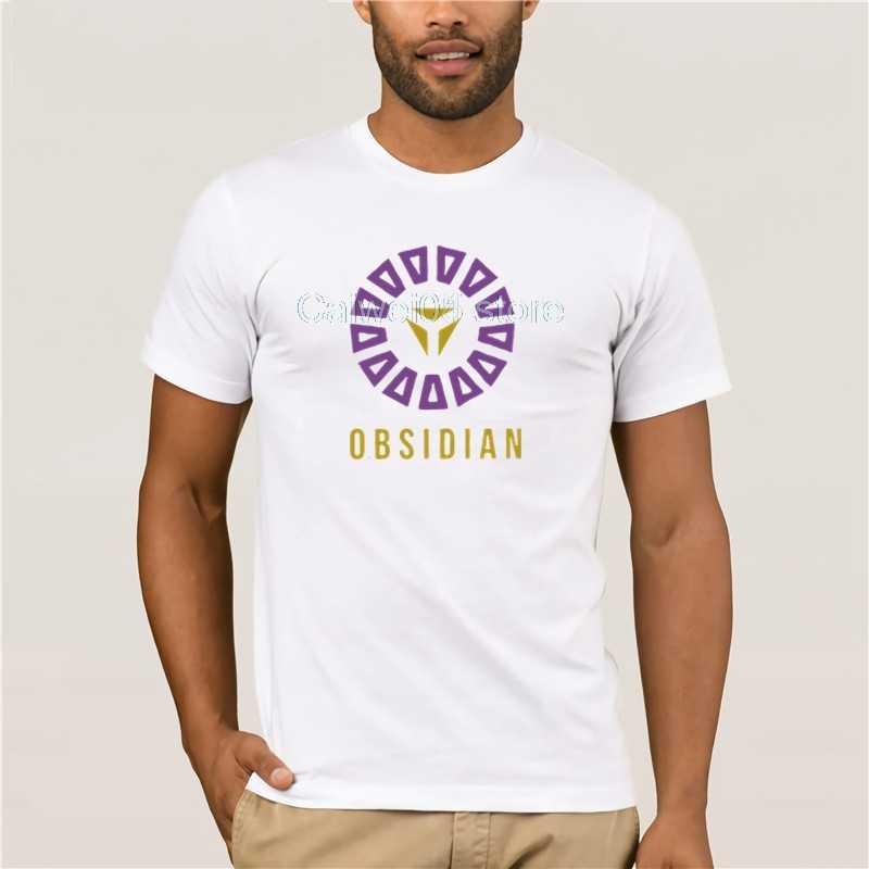 ホット男性の楽しいカジュアルプリント tシャツ侵入黒曜石綿 100% 大カジュアル o ネックルースファッション夏 T シャツのための男性