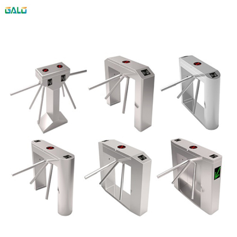 Entrance and exit gate,card swipe entrance machine tripod turnstile/people access control tripod gate