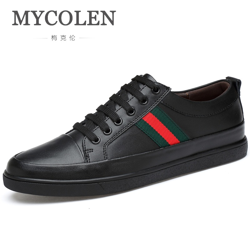 MYCOLEN Casual Shoes Luxury Fashion Man Flats Breathable Shoes Pu Leather Fashion Flat Classic Outdoor Male Shoes For Men FlatsMYCOLEN Casual Shoes Luxury Fashion Man Flats Breathable Shoes Pu Leather Fashion Flat Classic Outdoor Male Shoes For Men Flats