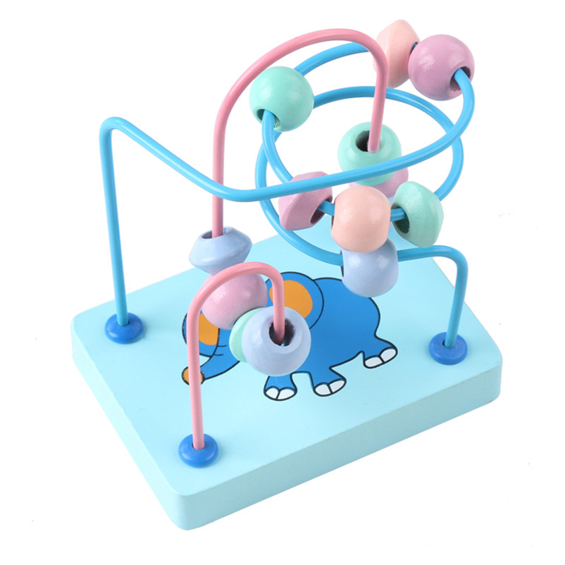 Baby Round Beads Toys For Kids Children Wooden Stringing Bead Roller Coaster Maze Puzzle Toy Early Educational Montessori in Baby Rattles Mobiles from Toys Hobbies